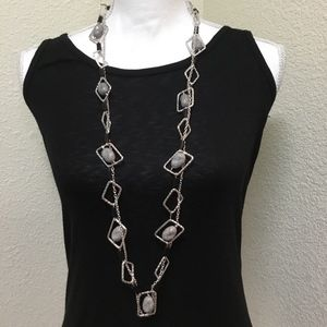 5/$25 Silver-tone metal with Bead Necklace